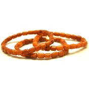 Lot of 3 Antique barrel shape Baltic amber bracelets