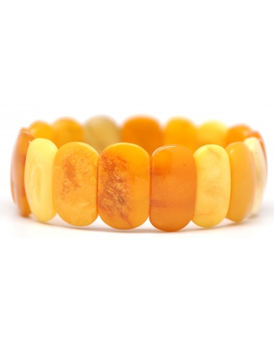 Multicolor antique classic Baltic amber bracelet