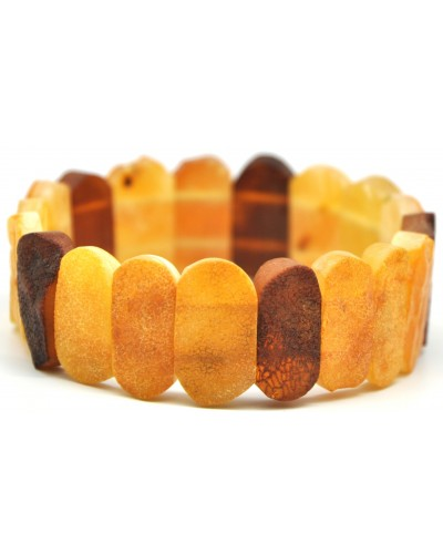 Raw  multicolor Baltic amber bracelet