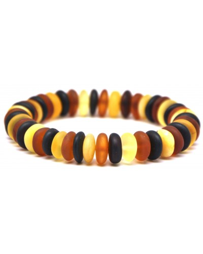 Unpolished Baltic amber elastic bracelet