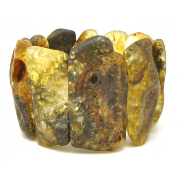 Amber bracelets | Natural shapes unpolished Baltic amber bracelet 68 g .