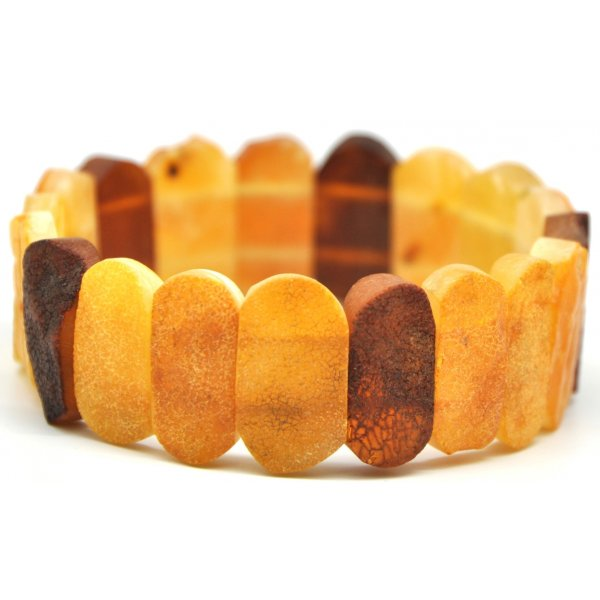 Raw multicolor Baltic amber bracelet-AB1808
