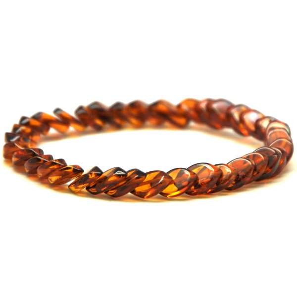 Tear drop Baltic amber bracelet-AB2313
