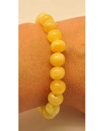 Yellow  baroque beads Baltic amber  bracelet