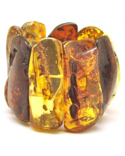 Natural shapes  Baltic amber bracelet 106 g.