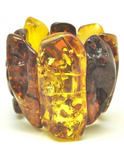 Massive natural shapes Baltic amber bracelet 190 g.