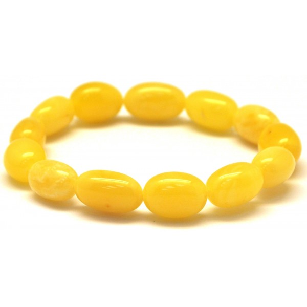 Olive Garden With Amberstone: Yellow Olive Shape Baltic Amber Bracelet From Online
