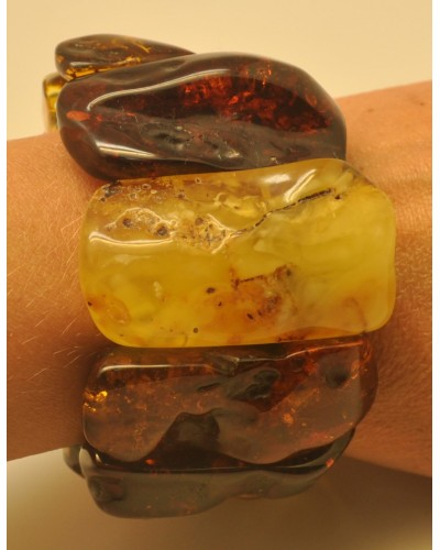 Natural shapes  Baltic amber bracelet 102 g.