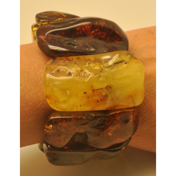 Amber bracelets | Natural shapes Baltic amber bracelet 102 g.