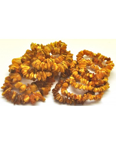 10 Real Antique Baltic amber chip bracelets