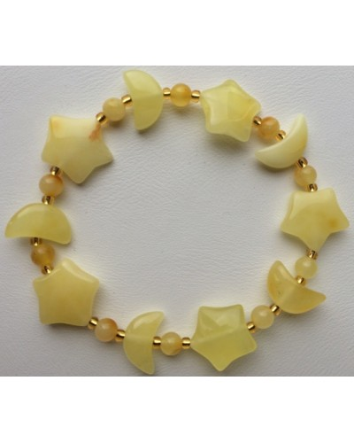 Natural yellow amber bracelets