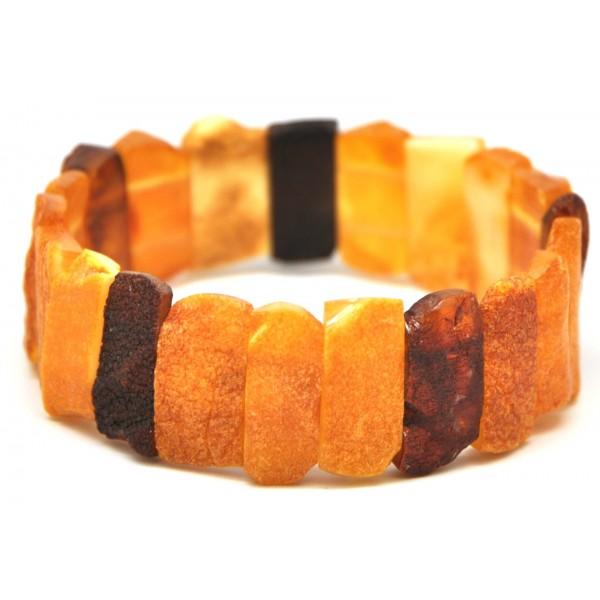 Amber bracelets | Raw multicolor Baltic amber bracelet
