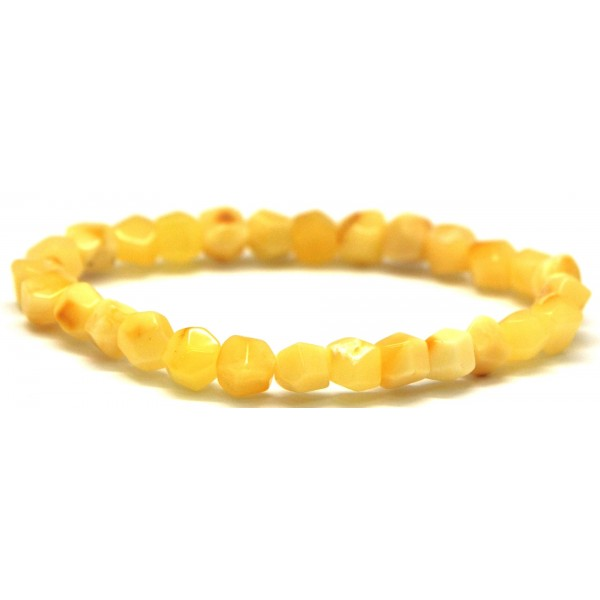 Amber bracelets | Faceted yellow beads Baltic amber bracelet