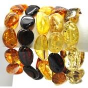 Lot of 5 Baltic amber big beads bracelets