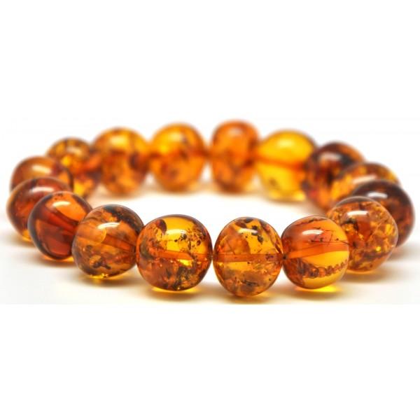 Amber bracelets | Baroque beads Baltic amber bracelet