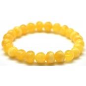 Yellow  baroque beads Baltic amber  bracelet