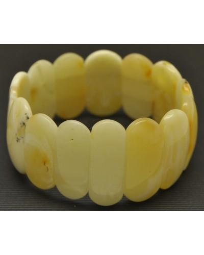 Classic white  Baltic amber bracelet