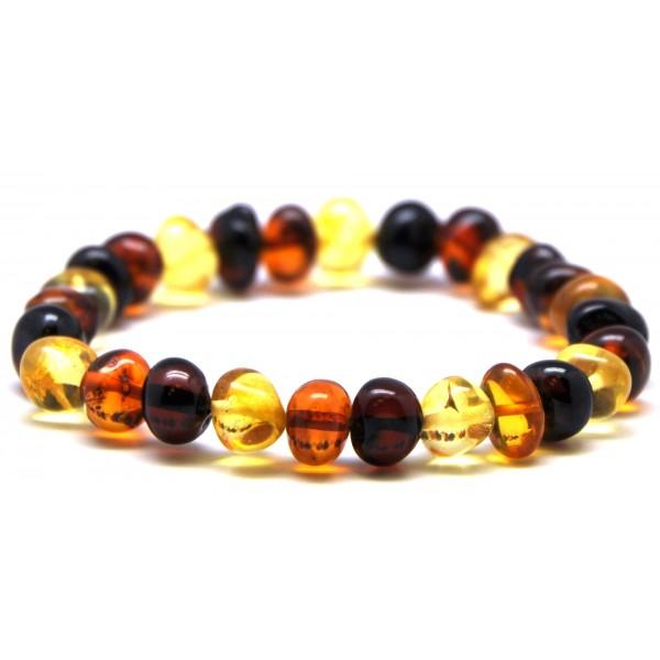 Amber bracelets | Multicolor baroque beads Baltic amber bracelet