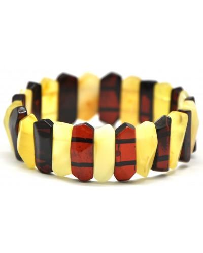 Faceted Baltic amber bracelet