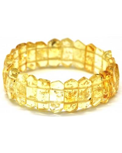 Faceted lemon Baltic amber bracelet