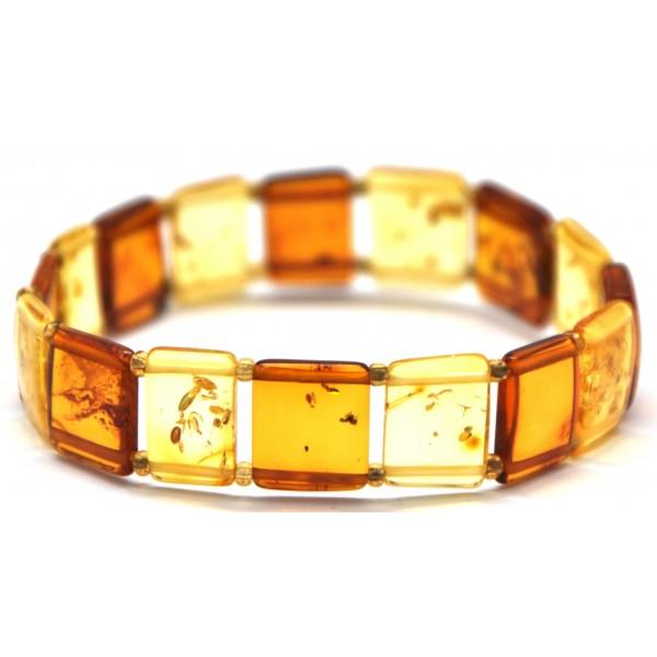 Elastic Baltic amber bracelet-AB2169