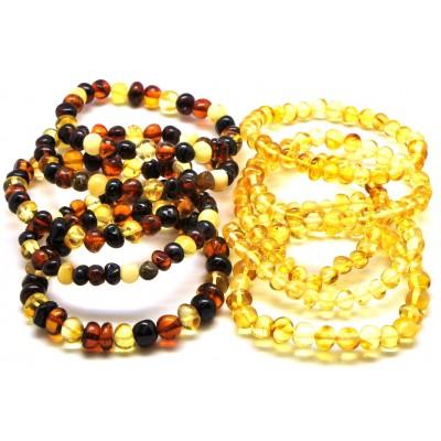 Lot of 10 baroque beads Baltic amber bracelets