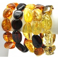 Lot of 5 Baltic amber big beads bracelets