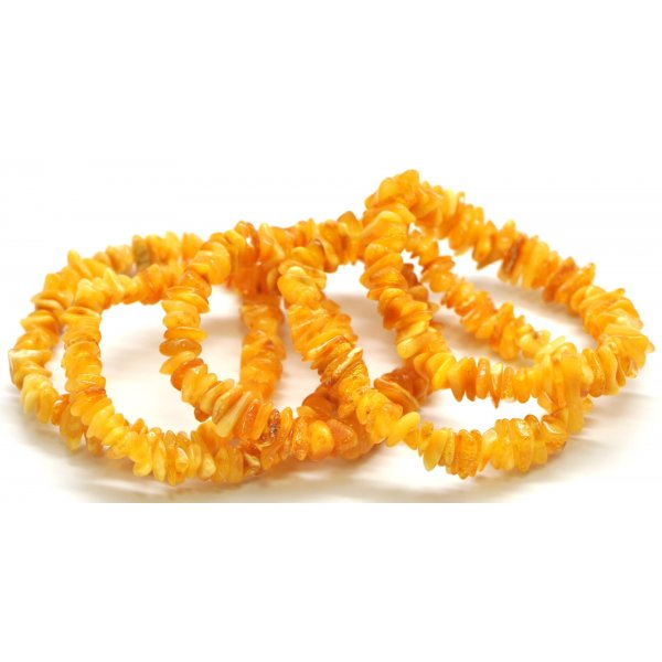 Lot of 5 Baltic amber chip bracelets -AB2131