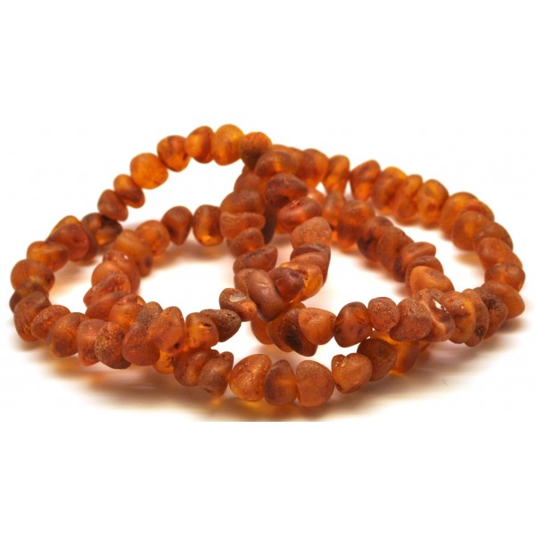 3 Raw Baltic amber bracelets-AB2332