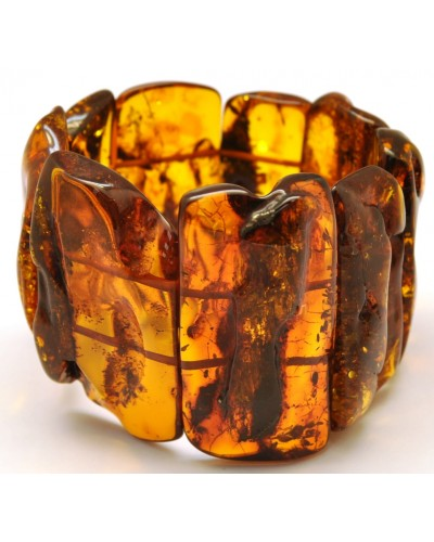Natural shapes Baltic amber bracelet 74 g.