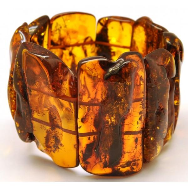 Amber bracelets   Natural shapes Baltic amber bracelet 74 g.
