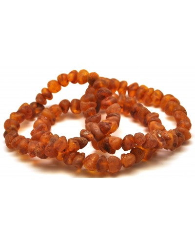 3 Raw Baltic amber  bracelets