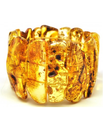 Natural shapes Baltic amber bracelet 60 g.