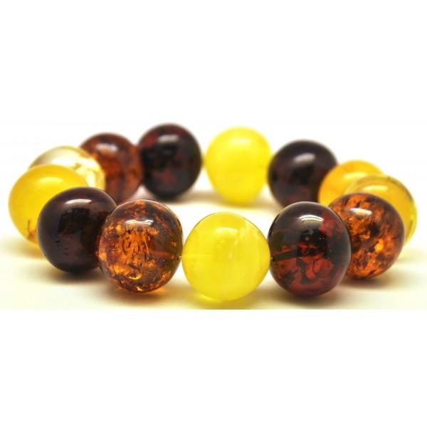 Amber bracelets   Multicolor baroque beads Baltic amber bracelet