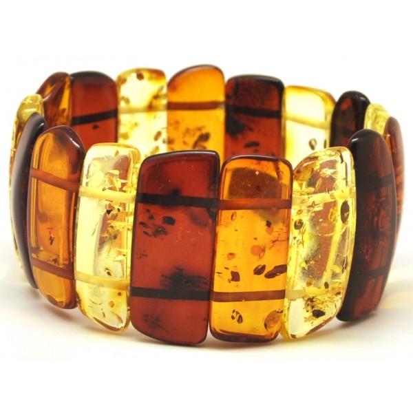 Amber bracelets | Multicolour Baltic amber bracelet