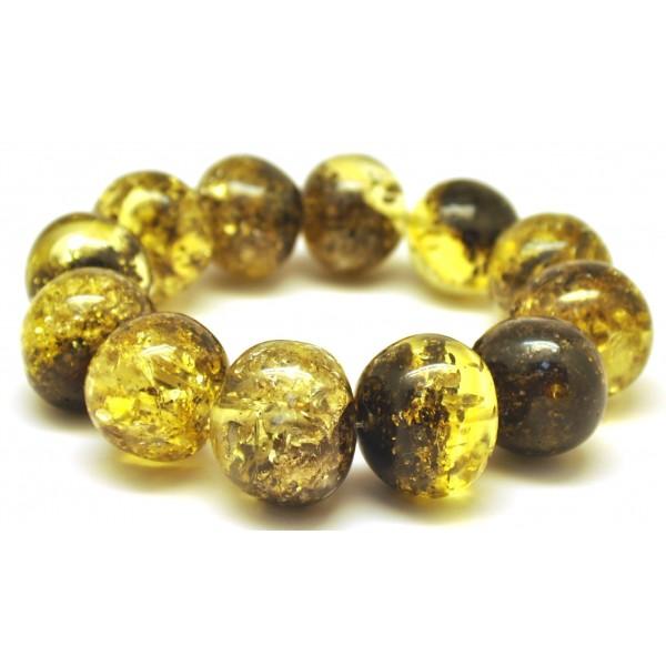 Amber bracelets   Green baroque beads Baltic amber bracelet