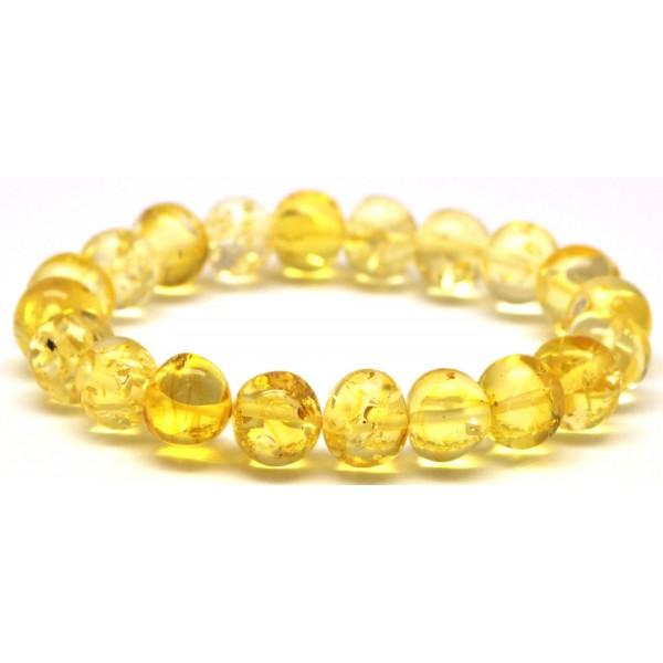 Amber bracelets | Lemon baroque beads Baltic amber bracelet