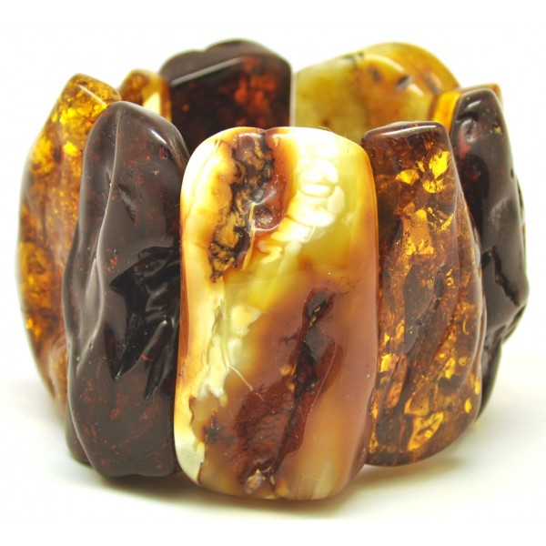 Amber bracelets | Massive natural shapes Baltic amber bracelet 158 g.