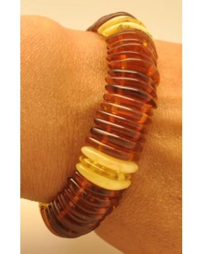 Baltic amber elastic bracelet