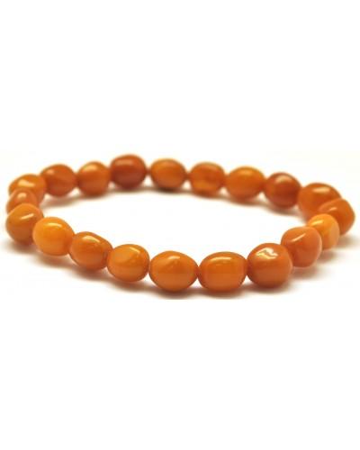 Antique Baltic amber olive shape bracelet