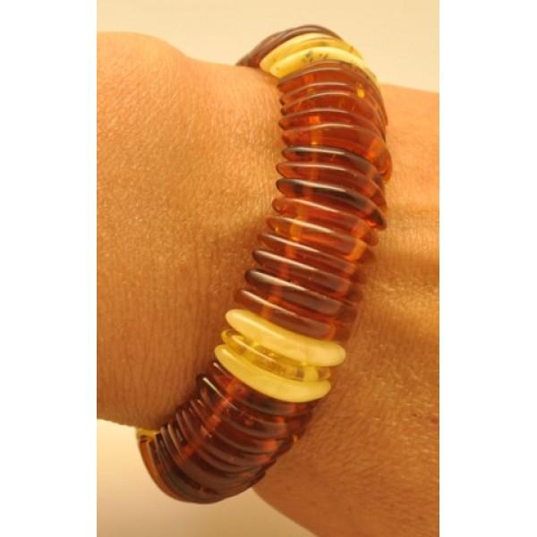Baltic amber elastic bracelet-AB2458