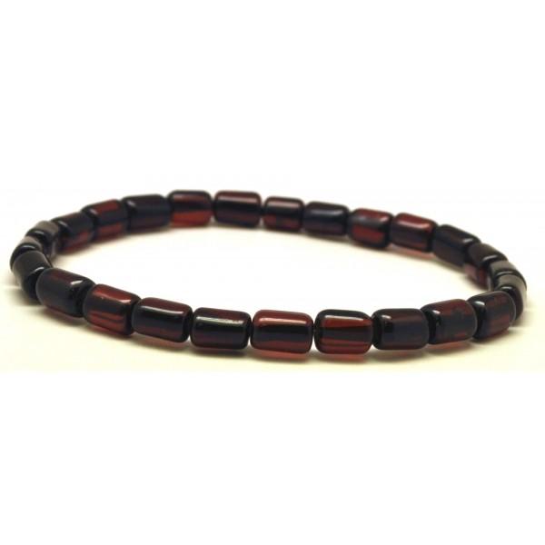 Cherry barrel shape Baltic amber bracelet-AB2467