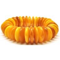 Massive Antique color Baltic amber bracelet 68 g .