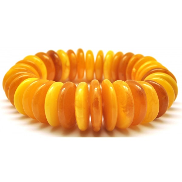 Massive Antique color Baltic amber bracelet 68 g .-AB2406