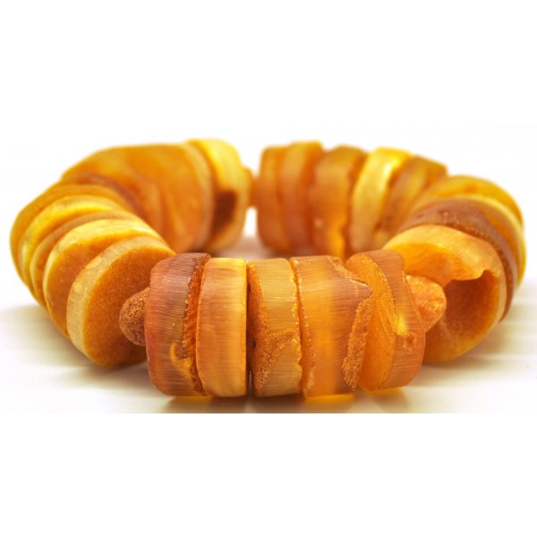 Raw Baltic amber elastic bracelet -AB2249