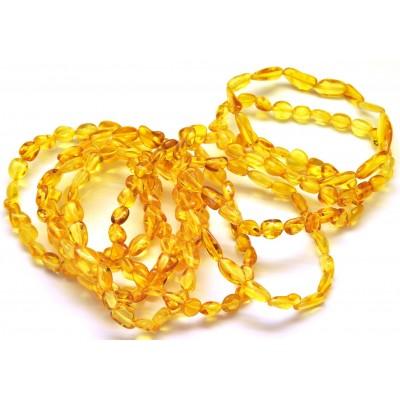 10 Honey beans shape amber bracelets