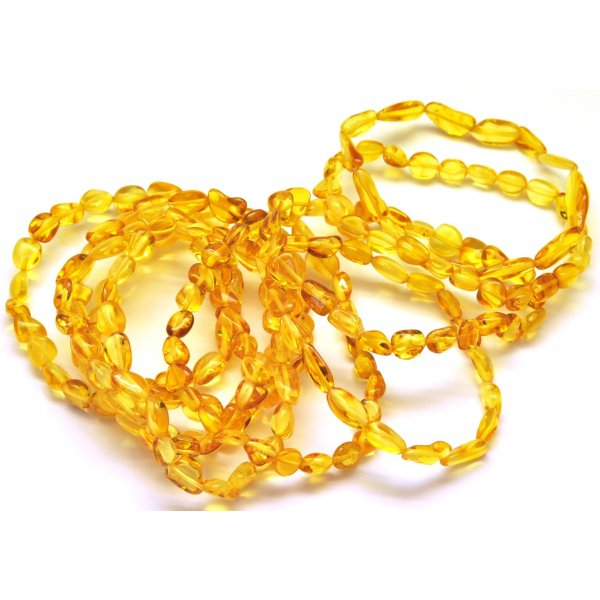 10 Honey beans shape amber bracelets-AB2816