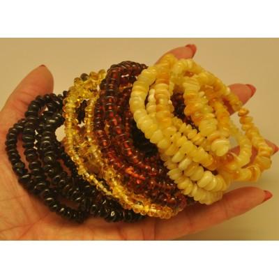 20 Elastic amber bracelets