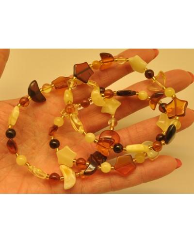 Lot of 3 elastic amber bracelets