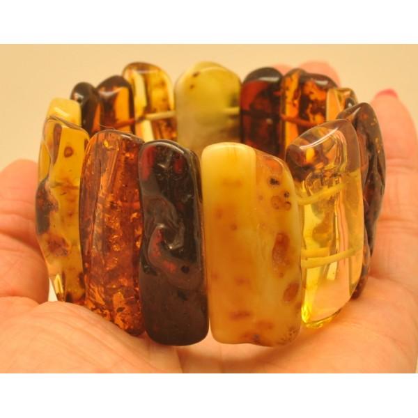Amber bracelets   Natural shapes Baltic amber bracelet